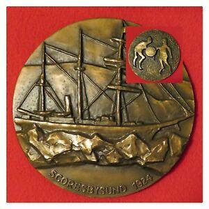1974 Gronland Medaljen Bronze by Sven Havsteen-Mikkelsen. Ltd. Edition 2202/5000