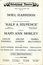 NOEL HARRISON Signed Program - Half A Sixpence
