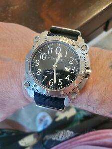 Montre Diver Hamilton Kaki Below Zero auto swiss 1000m 2 bracelets fonct excell