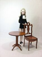 """Table and chair for BRB FR FR2 BJD Dolls 12"""" furniture 1/6 RARE wooden v2"""