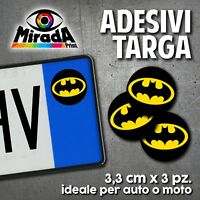 ADESIVI STICKERS BOLLINO TARGA BATMAN MOVIE FILM AMERICAN COMICS AUTO MOTO PLATE
