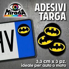 ADESIVI STICKERS BOLLINO TARGA BATMAN MOVIE FILM AMERICAN COMICS AUTO MOTO PLATE