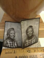 African american female photobooth photo lot of 2
