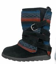 Mukluks Women's Southwestern Aztec Winter Boots Size 7 Blue Black