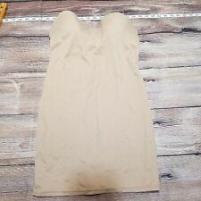 Flexees Women's Size 36C Khaki Tan Bra Bustier Corset Shirt Top