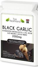 Sin Gluten Olor Black Garlic Pastillas para Hombres y Mujeres 2000mg Veganos