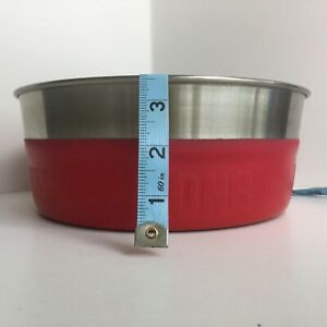 KONG LARGE Non Skid Stainless-Steel Dog Feeder Bowl with Red Rubber Bottom/Sides