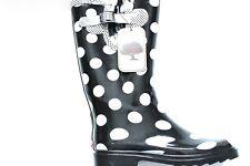 Women's Chooka classic Dot Metallic Pewter Rain Boots Size: 8