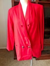 Vintage Double Button Red Long Unconstructed Spring Jacket/Blazer