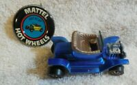 1968 ORIGINAL MATTEL HOT WHEELS/ REDLINE USA HOT HEAP /  BLUE+ BUTTON