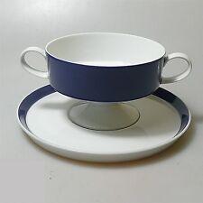 Rosenthal Form 200 ABC Suppentasse mit Unterteller blauer Rand Baumann Entwurf