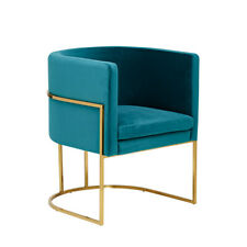 "Green Velvet Arm Chair or Occasional Chair by Abacus & Hunt ""The Lexington"""