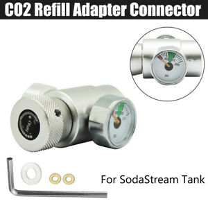 CO2 W21.8-14 Thread  Refill Adapter Connector For Sodastream Tank   [CO2