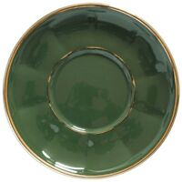 Apilco Beautiful Green And Gold French Bistro 6 x Dinner Plates   eBay