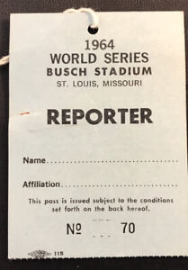 1964 World Series pass GM 7 Mickey Mantle Last HR #18 Tops Babe Ruth Record Ex