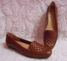 """EASY SPIRIT """"Jessa"""" women's loafer in size 8N brown leather"""