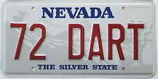 72 DART Embossed Metal Novelty License Plate for Your 1972 Dodge