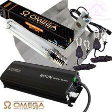 600w OMEGA BLACK Dimmable Digital Ballast Grow Light Kit HPS Dual Spectrum Bulb
