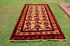 Vintage Beautiful Peacock Pictorial Tribal Afghan Beloch Carpet For Wall Hang Ru