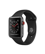 Apple Watch Series 3 Cellular 42mm Space Gray Aluminium Case w/ Black Sport Band