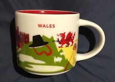 Starbucks Wales YAH Mug Dragon Sheep Bridge Daffodils Castle Cymru You Are Here