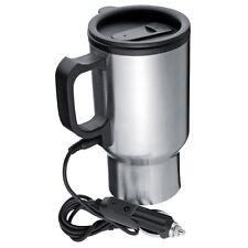 Stainless Steel 12V Car Cigarette Plug Heated Vacuum Flask Hot Drinks Mug cup