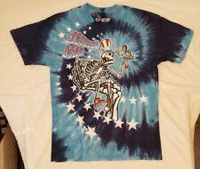 """Brand New Liquid Blue Grateful Dead """"Uncle Sam I Am"""" Tie Dye T-shirt Size L"""
