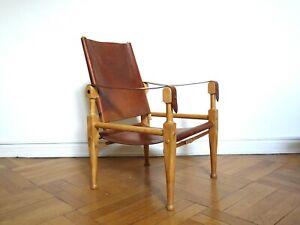wilhelm kienzle safari chair stuhl sessel 50er mid century design leder leather