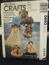 McCall's Crafts 5693 Angel Doll & Clothes TreeTopper & Centerpiece Doll Pattern
