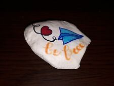 Stone paperweight Bee free rock decor handpainted special sparkling effect