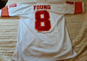 Vintage Steve Young Stitched Wilson Jersey RARE Tampa Bay Buccaneers 44 L 49ers