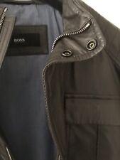 Hugo Boss Leather Jacket Size 50 BROWN