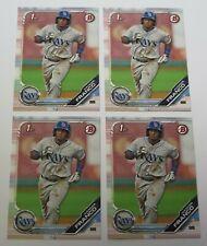 2019 Bowman Prospects Wander Franco BP-100 Rays Lot of 4 Cards