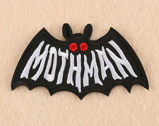 """Mothman embroidered iron on patch 4.25x2.5"""" - conspiracy urban legend crypto"""