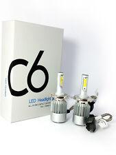 COPPIA LAMPADA AUTO MOTO COB C6 H4 LED 3800LM 36W 6000K BIANCO FREDDO DIGITALE