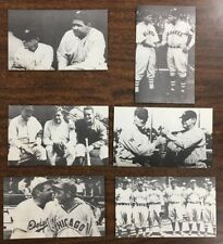 """1975 """"The Babe"""" Unmarked Babe Ruth Post Cards Lot of 6"""