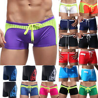 Men Swimming Beach Boxer Trunks Shorts Summer Swimwear Swimsuits Underwear Pants