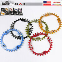 US SNAIL 104BCD 30T MTB Bike Chainring Narrow Wide Round Single Chainwheel Bolts