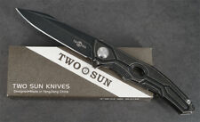 New Twosun Knives Outdoor Titanium D2 Fast Open Pocket Folding Knife TS28-Black