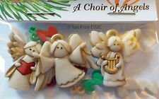 VAT Free Dress It Up A Choir of Angels 3 Buttons Craft Sewing Knitting New 7495