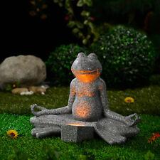 Garden Ornaments Light Solar Frog Buddha Outdoor Light Home DecorationGIFT NEW