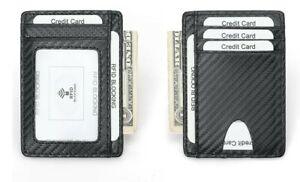 Mens RFID Block Slim Wallet Credit Card ID Holder Minimalist Front Pocket Wallet