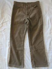 Vintage LEVIS 517 Men's 31 X 26.5 Beige CORDUROY Jeans White Tab Hemmed