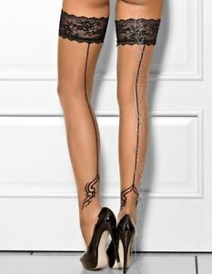 Axami Luxury Peanut Tarte Stockings Hold Ups European Lingerie