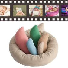6Pcs Baby Newborn Pillow Photography Basket Filler Posing Donut Props Wheat NEW
