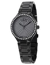 Stuhrling 683 02 Symphony Swiss Quartz Crystal Dial Black Bracelet Womens Watch