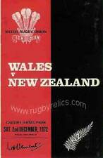 WALES v NEW ZEALAND 1972 RUGBY PROGRAMME 2 Dec at CARDIFF