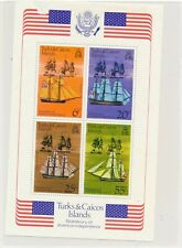 Turks & Caicos Islands  - American Independence - Sailships