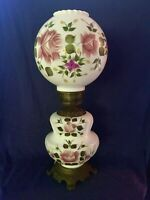 Vintage Gone With The Wind Parlor Lamp 3 Way Lighting Victorian Style Floral