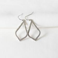 $55 Kendra Scott Sophia Drop Earrings IN silver NEW with bag